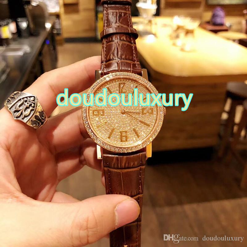 Hot Men's Watches High Quality Boutique Quartz Fashion Watches Popular Neutral Fashion Watch Leather Strap Free shipping