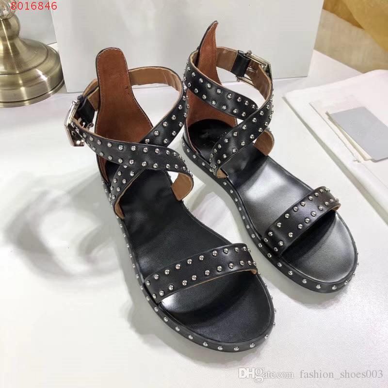2018 новые черные женские сандалии, обувь для отдыха, летние сандалии, оригинальные qulity, натуральная кожа, цвета изображения, бесплатные shipmen