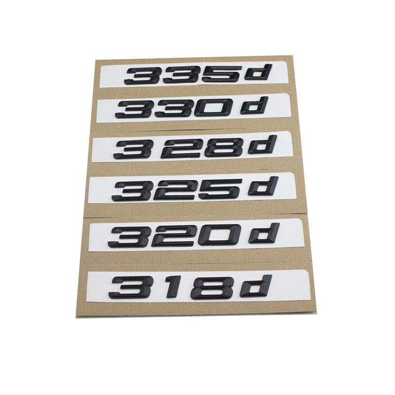 1pcs nouveau argent et noir 318d 320d 323d 325d 330d 335d 338d voiture coffre coffre emblème lettrage badges logo pour BMW série 3 F30 F31 F34 E90
