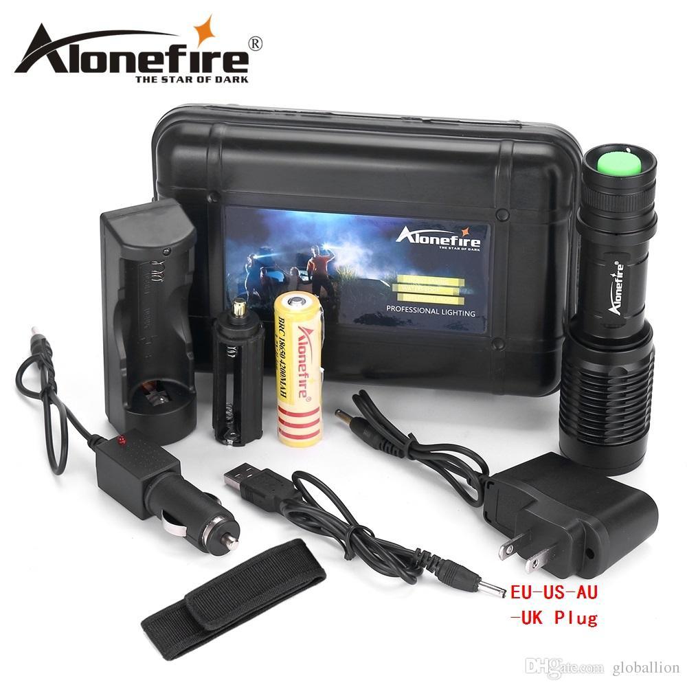 Alonefire H230 CREE XM-L T6 2000 Lumens LED Bicycle Flashlight Torch light 1x18650 battery