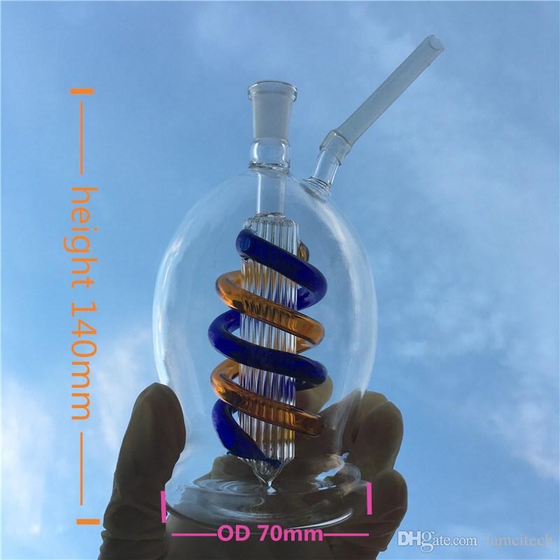 Doble uso de la Cachimba de Cristal 5.5 Pulgadas Mini Tubería de Agua de Cristal Práctica 10mm Recicladora Hembra Fumador Botella de Vidrio Bong