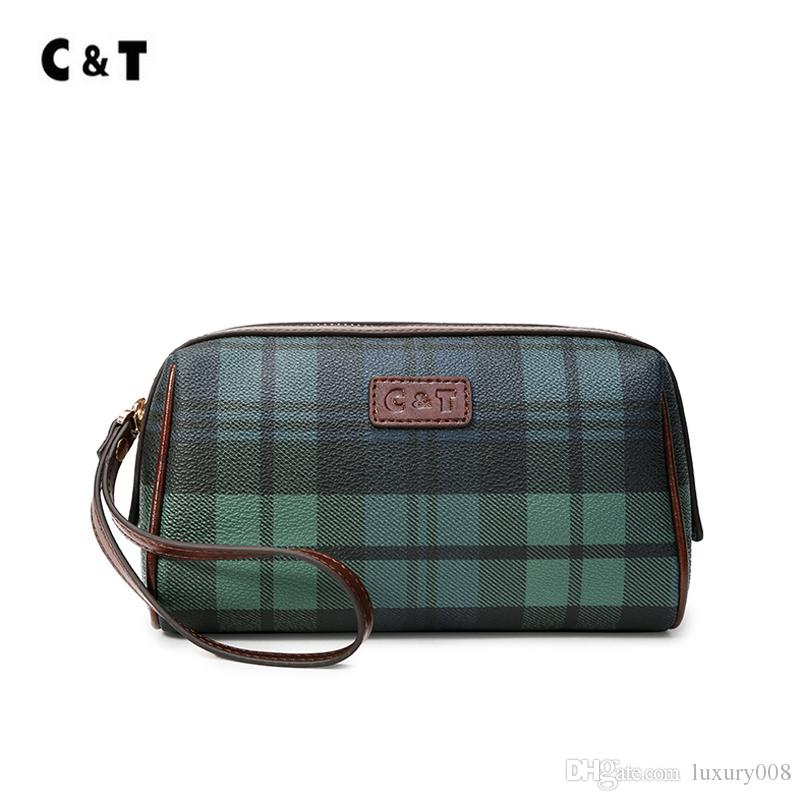 Old cobbler C&T brand selling zero Purse Coated canvas Small bag latticed pattern of a trademark patent Fashion tote