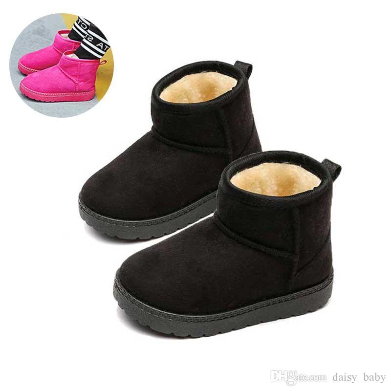 Kış Ayak bileği Boot Çocuk Ayakkabı Çocuk Kalınlaşmak tutulması Sıcak Önyükleme Boys Girls Ayakkabı Botaş Yün Kar Boots Ayakkabı 2018 # 60