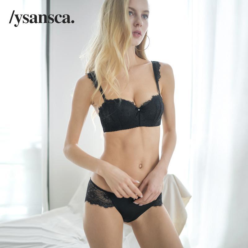 vendita all'ingrosso nuovi fiori ricamo reggiseno e slip set marchio bianco pizzo set lingerie reggiseno donne nero sexy intimo set plus size
