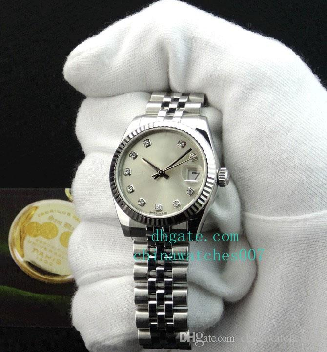 Hot sale high Quality Watch Mid-Size 31mm Datejust - Silver Diamond Dial - 178274 SANT BLANC Stainless Steel Automatic Ladies Women's Watch