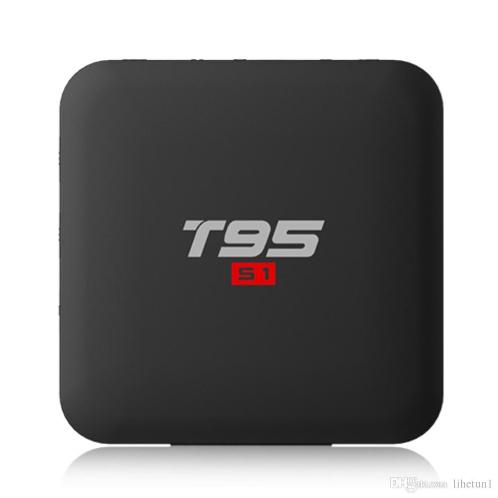 14pcs Orijinal T95 S1 1GB / 8GB 2GB / 16GB Android 7.1 tv kutusu Amlogic S905W QuadCore destek 4k Youtube, Netflix 2.4G Wifi