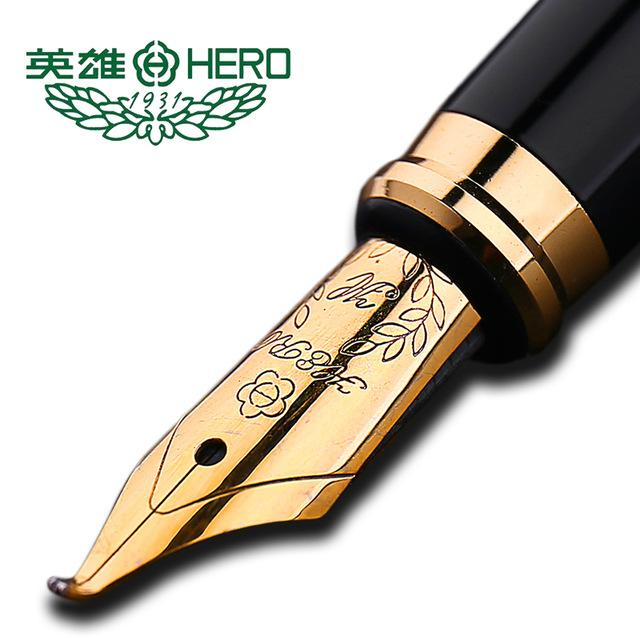 Authentic standard type Hero frosted 6006 metal calligraphy pen art fountain pen iraurita ink 0.5mm /1.0mm gift box set