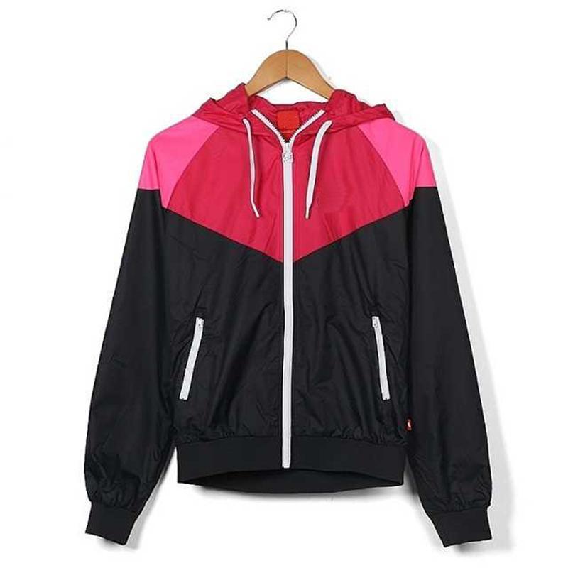 Cap Kapüşonlular Spor mektubu ile Ceketler Kadın Coat Yeni Aktif Yüksek Kaliteli Rüzgar kesici Sıcak Satılık yazdır