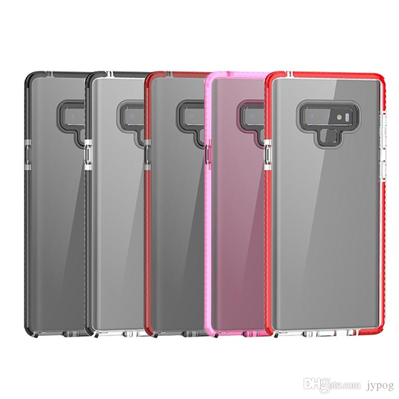 For Samsung Note 9 Case TPU Silicone Soft Frame and Transparent Double Color Clear Back Full Body Cover For Samsung Galaxy Note 9