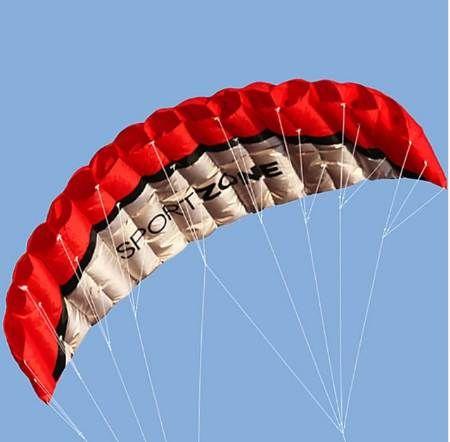 Family Playing Power Dual Line Stunt Parachute Rainbow Sports Beach Kite 30m Nylon Flying Lines For Beginner