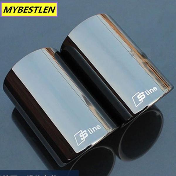 الجملة GR-EP2 السيارات Exhause الفولاذ المقاوم للصدأ الأنابيب السيارة الخلفي الذيل الحنجرة لAUDI Q5 A4 A3 سيدان B8 2.0 2009 2010 2011 2012 2013 2014