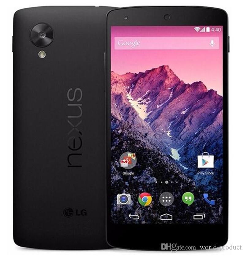 """تم تجديده جوجل LG Nexus 5 في D820 D821 رباعية النواة 2GB 32GB 4.95 """"الهاتف الأصلي D821 مقفلة 3G WCDMA المحمول"""