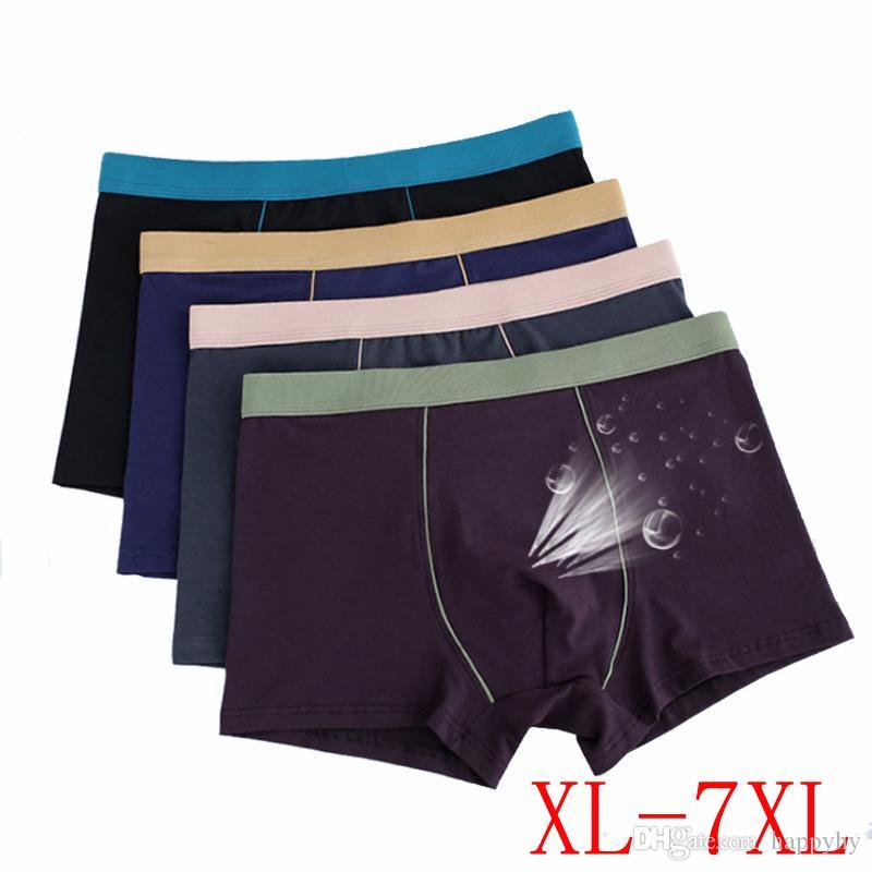 Moda Sexy Plus Grandi Uomini 3D Senza Soluzione di Continuità U Convex Biancheria Intima di Cotone Mutandine Boxer Mutande Boxer Pantaloncini XL-7XL spedizione gratuita