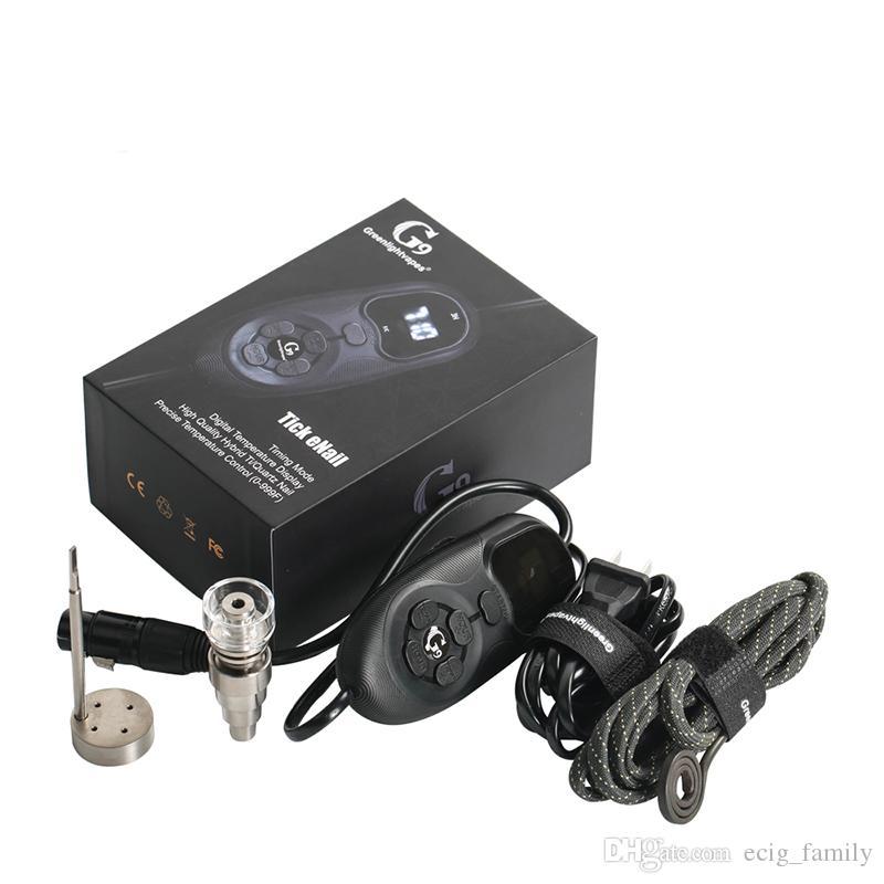 HOT Version G9 Kit Enail Henail avec Quartz titane Nail Portable E Kit Dab Dab Pour 16mm Huile Dab Rig Tuyau En Verre