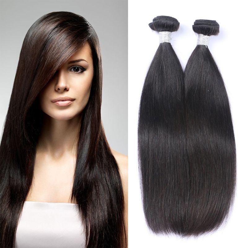 8A Doğal Renk 1B Brezilyalı Bakire Remy İnsan Saç Uzantıları Örgü İnsan saç paketler Düz Saç Satış fiyatı Toptan