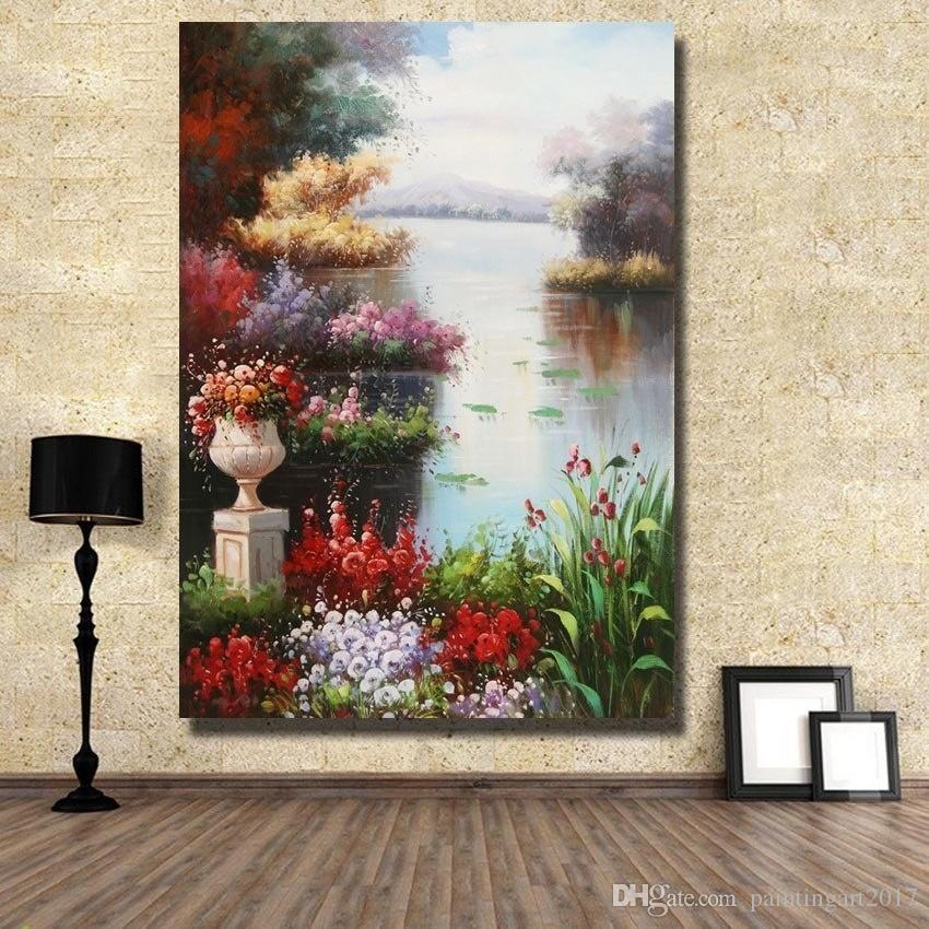 Handmade Oil Painting On Canvas Modern Art beautiful seaside scene picture for Living Room home decoration