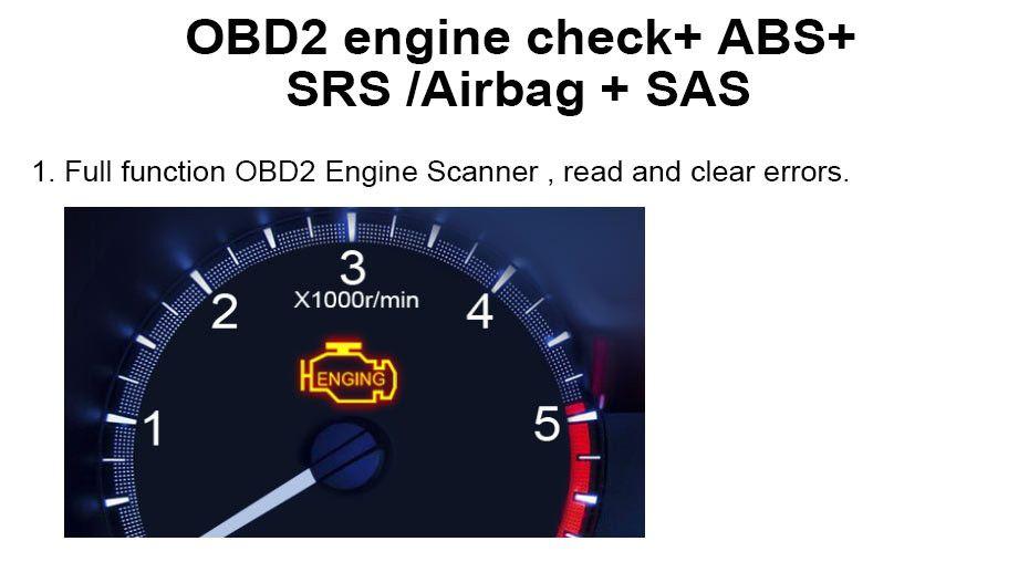 Automotive Diagnostic tool Car Scanner Diagnosis OBD2 Airbag ABS SAS SRS_04