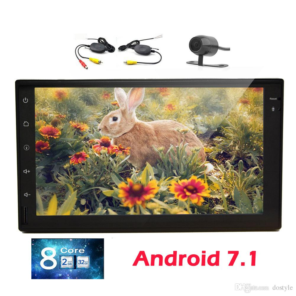 """7"""" Android 7.1 Double 2 Din Car Stereo Octa Core GPS Navigation HeadUnit Bluetooth TouchScreen GPS AM/FM Radio Receiver WiFi/1080p"""
