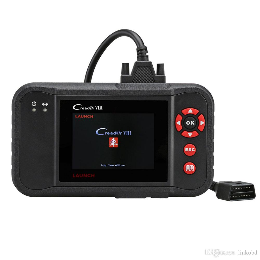 Launch X431 Creader VIII Code Scanner Diagnostic Tool Support 4 System Engine Transmission ABS Airbag Update Online