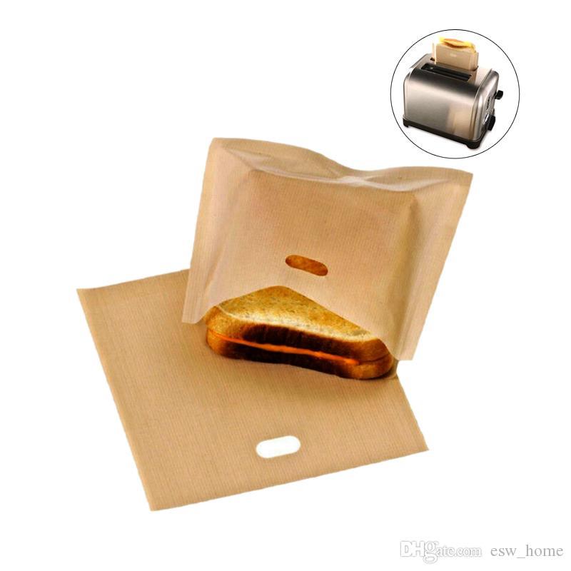 Resistente al calore non appiccicoso bruschette per pane panino grill per grigliate microonde sacchetti Riutilizzabili sacchetti per tostapane in fibra di vetro rivestita