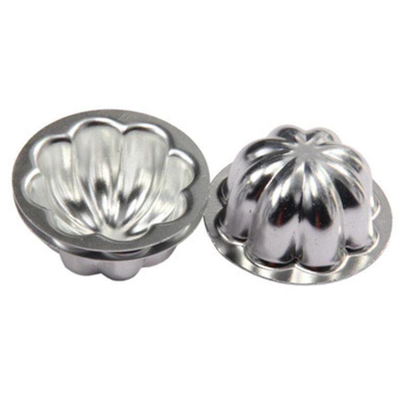 Fond rond fleur forme Aluminium Pudding Moule Fondant Gâteau Moules Pâtisserie