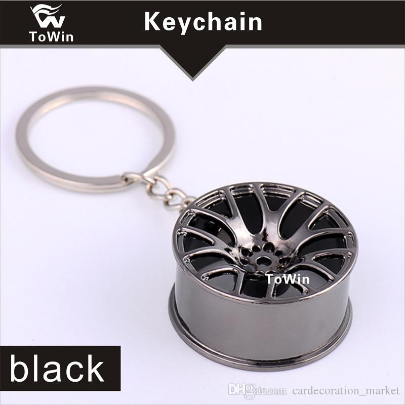 Toptan, lüks metal Araba Anahtarlık yaratıcı tekerlek hub zincir Araba Adam Kadın Hediye Için Kişilik Anahtarlık Jant Modeli Anahtarlık.