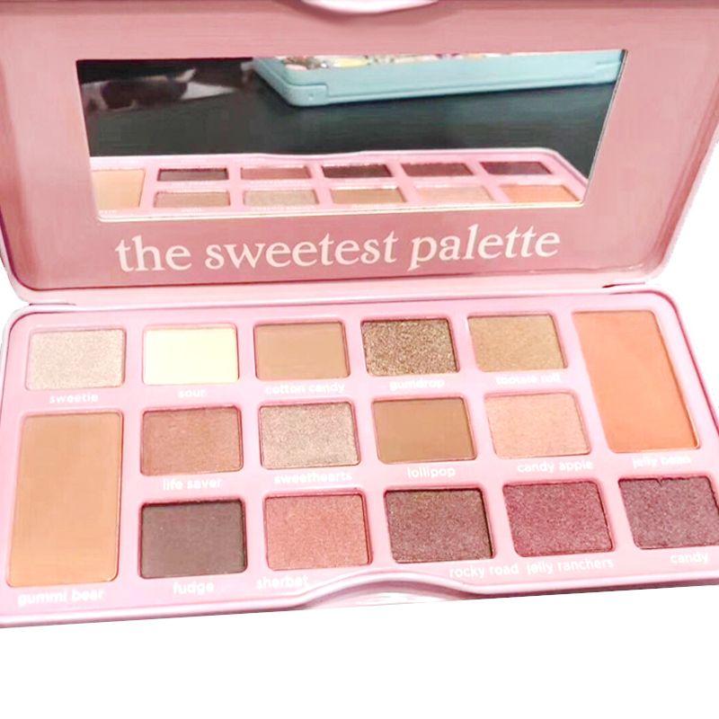 2019 Die süßesten Palatten- und Zuckersüßigkeiten 16 Farben Olivia 16 Farbe Lidschattenpalette Schattenpaletten
