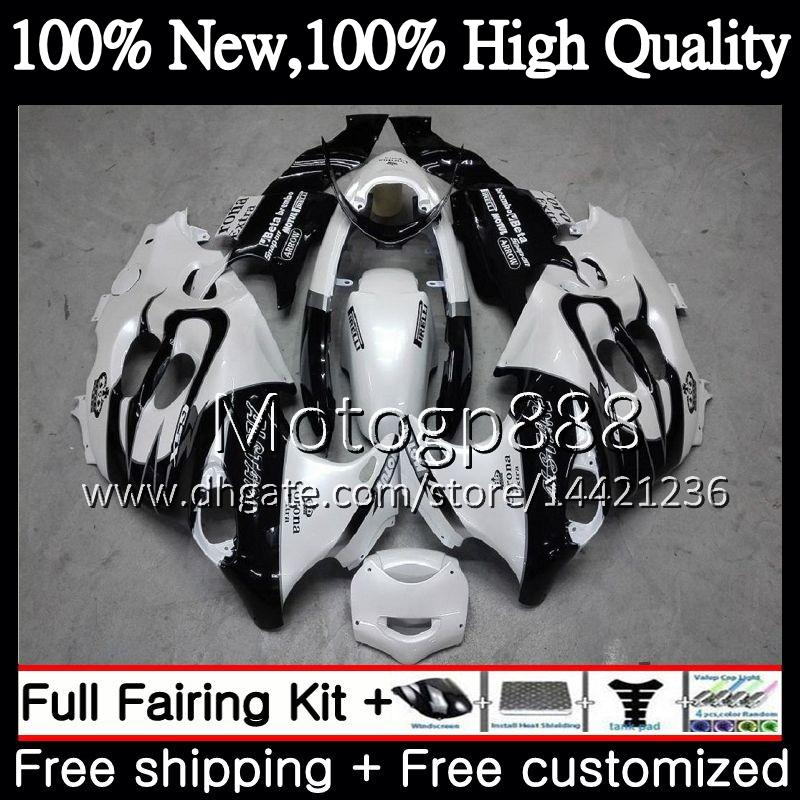 Кузова для Suzuki GSXF 600 750 катана GSXF600 98 99 00 01 02 GSX600F 21PG8 белым венчиком GSXF750 1998 1999 2000 2001 2002 обтекателя кузова