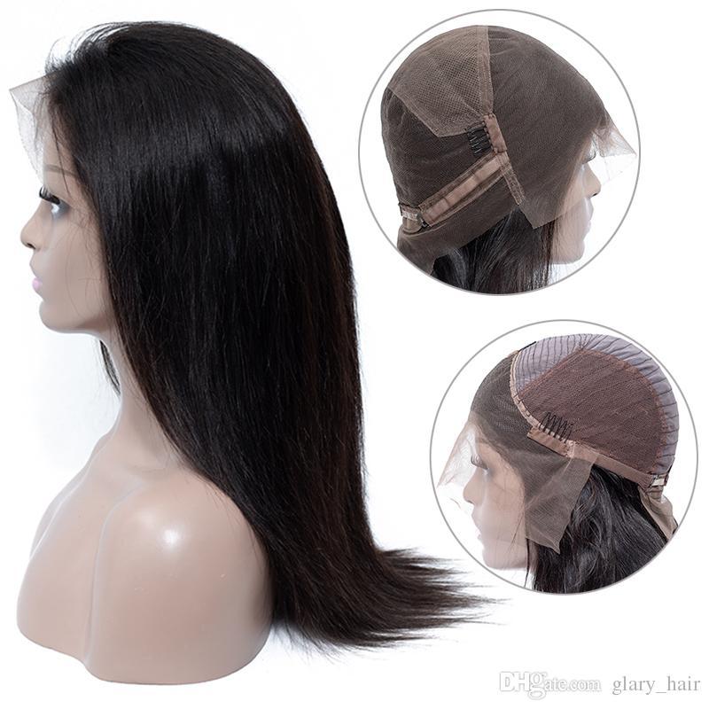Glaryhair Virgin Body Wave Lace Frontal Wig Brazilian Lace Front Human Hair Wig Brazilian Remy Hair Straight