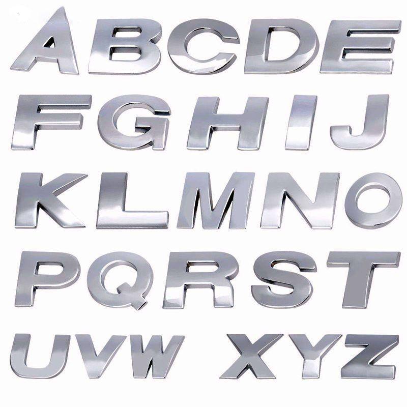 Neue Autos 3D Metall Auto Aufkleber 26 Buchstaben Auto Auto Aufkleber Zubehör A bis M