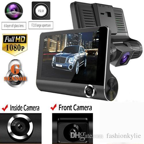 NEW1080P HD 170 Ángulo 3 Lente Coche DVR Dash Cam G-sensor Grabadora y cámara de visión trasera Cámara de tres vías Tres lentes Visión nocturna Camco Descripción