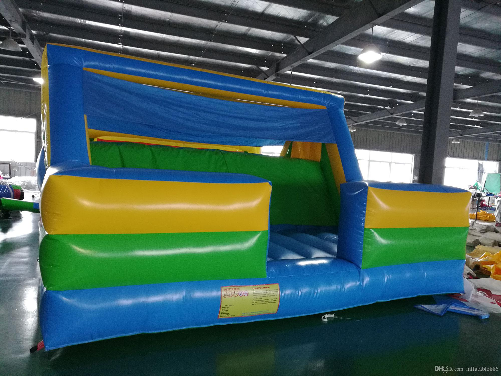 El trampolín inflable que salta la pista de obstáculos inflable que sube la diapositiva para el juego de los niños utiliza interior y al aire libre