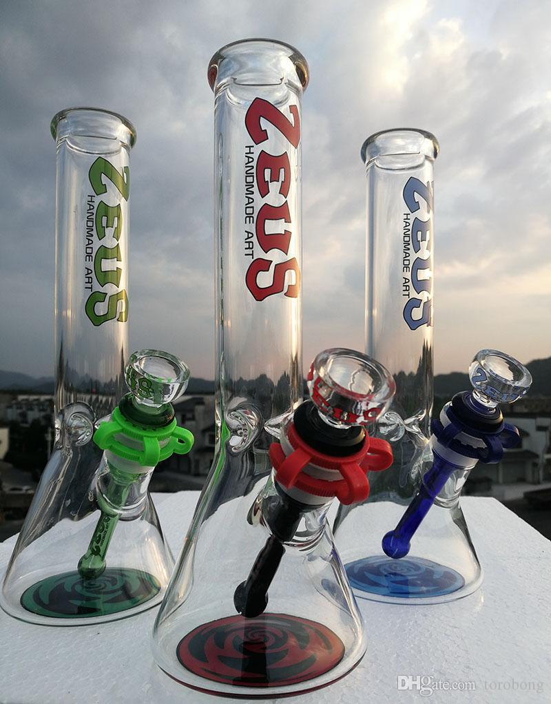 """Glass Bong 10 """"Rasta Designer Heady Водопроводная труба 18,8 мм Соединительные стакан бонги Стеклянная труба или курящие аксессуары"""