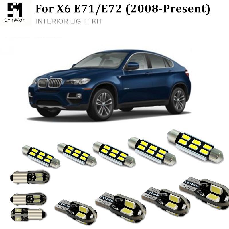 Shinman 19X Hata Ücretsiz Beyaz İç LED Işık Paketi Kiti BMW X6 E71 E72 2008-2015 Için aksesuarları okuma kapı ...