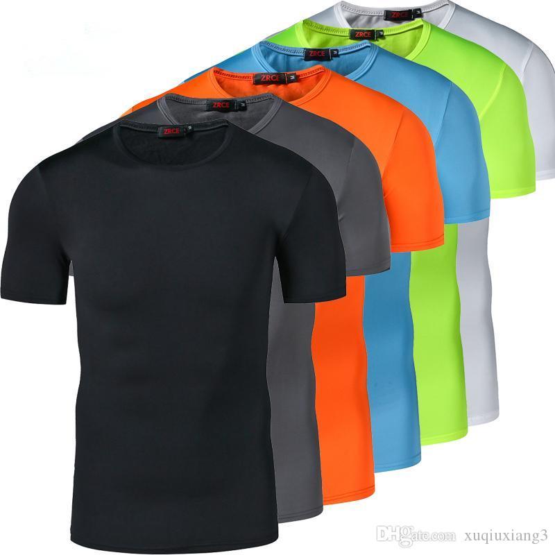 Collants de compression Freeball pour hommes Shirt de course T-shirts de fitness Shorts Manches courtes T-shirt de Traning à séchage rapide