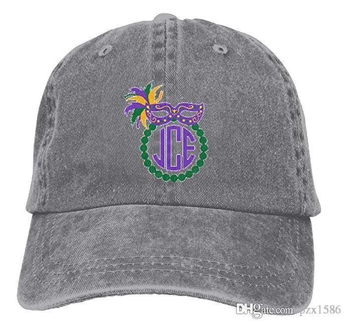 Mardi Gras Baseball Caps Cool Curved Visor Snapback Hat for Kids