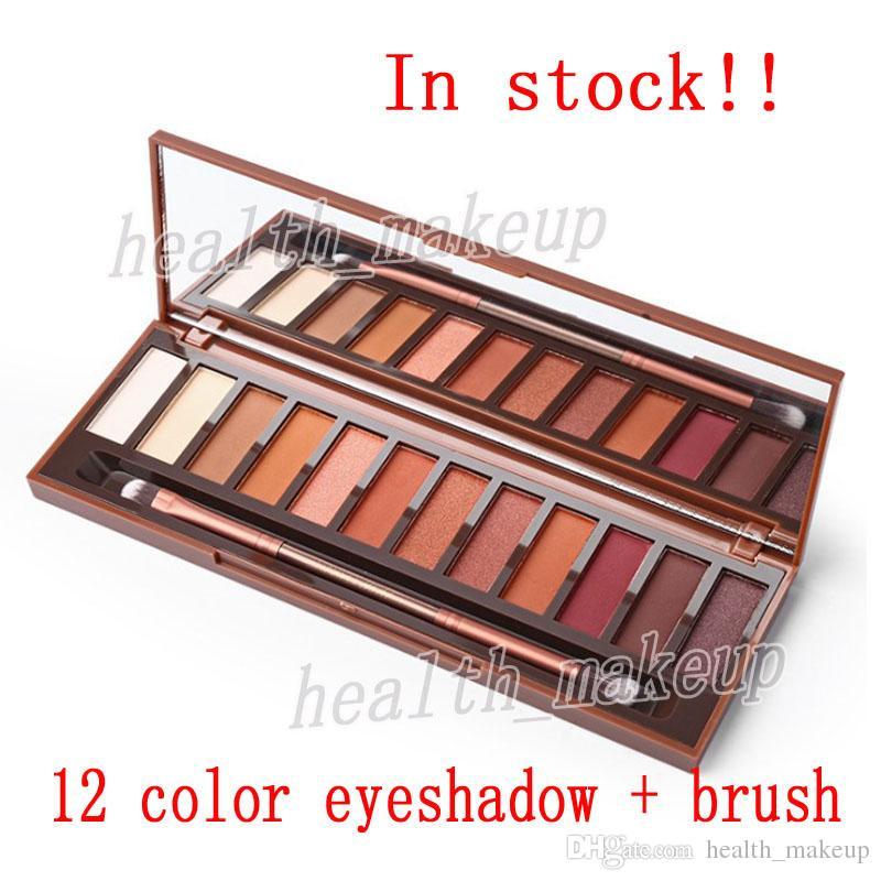 макияж Термическая палитра 12 цветов палитры тени глаза Высокое качество Eyeshadow щетками Cosmetics Бесплатная доставка