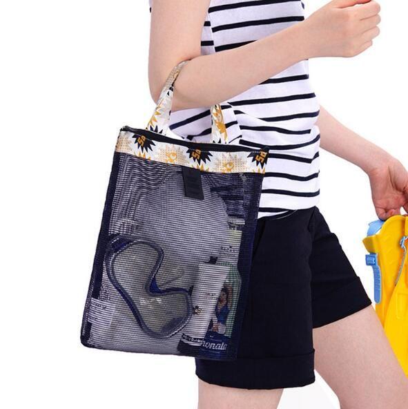 Ladies fashion beach bag adult children swimming pool bathroom bag plaid bag travel accessories. Children's toys waterproof