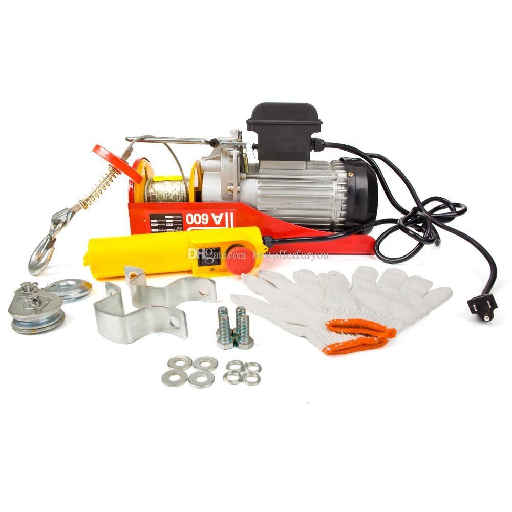 New Hot Sale Mini Electric Wire Hoist Remote Control Garage Auto Shop Overhead Lift Red Yellow