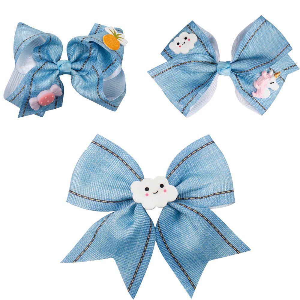 Princess Hair Bows for Girls Unicorn Candy Pineapple Cloud DIY Hair Clips Hairband Kids Christmas Gifts Hair Accessories