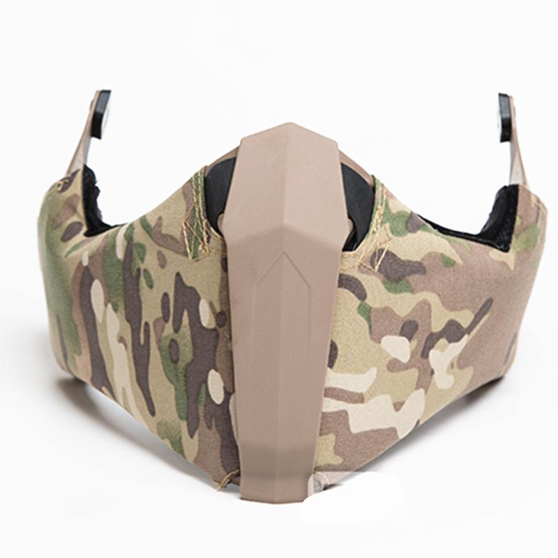 Tactical bei Off-Road-Missionen Mandible Guide Rail Verbindung Halbe Gesichtsmaske für Ops-Core Highcut Helm