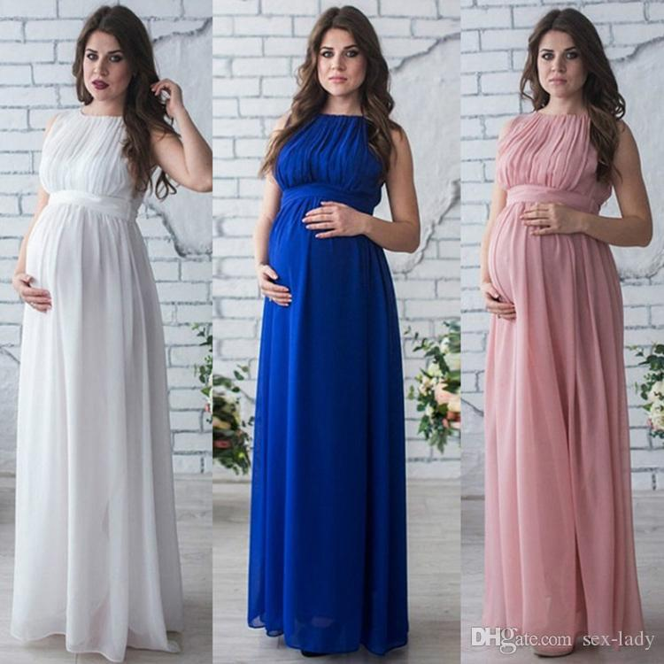2019 Maternity Dress Pregnancy Clothes Lady Elegant Vestidos Pregnant Women Chiffon Party Formal Evening Dress Photo Shoot Long Dresses From Sex Lady