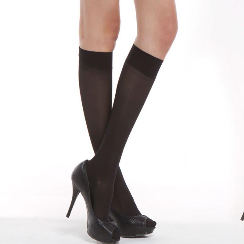 10 paia / pacco calze alte al ginocchio in seta basale calda 20d / 40d / 70d elastico ultra-sottile nylon trasparente metà sexy calza all'ingrosso