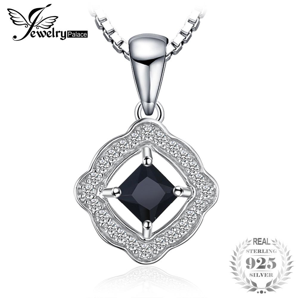 JewelryPalace Elegant Square Cut Genuine Spinel Pendant 925 Sterling Silver Accessories For Women Not Include A Chain S18101307