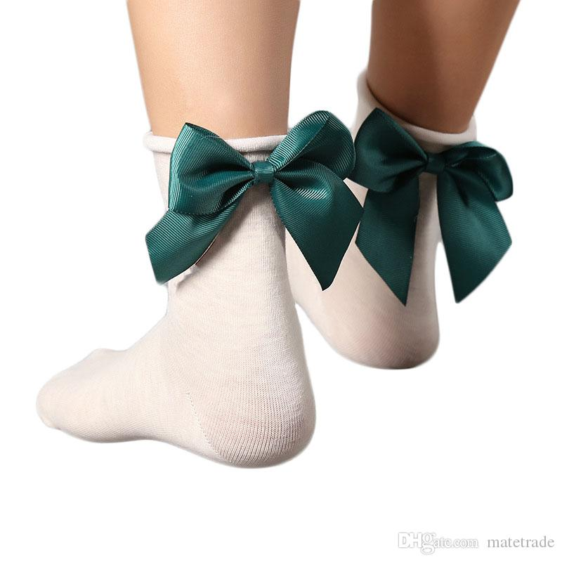 80PAIRS/LOT Fashion Women Funny The Heel Ribbon Big Bowknot Short Socks Wild Skarpetki Chaussette Femme Ankle Socks 8 Colors