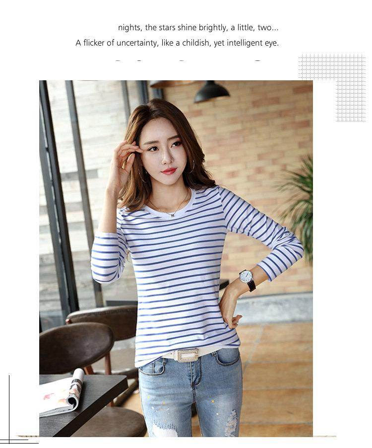 Autumn Winter Striped T-shirt Women Casual Plus Size Tops Tees Femme Long Sleeve Women Cotton Tshirt Camisetas Mujer 2019 (7)