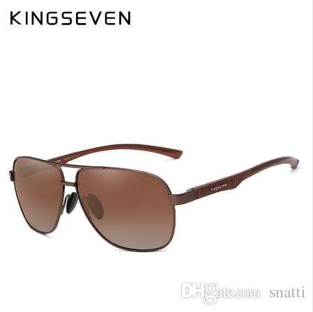 KINGSEVEN 2018 Marca Hombres Gafas de Sol de Aluminio HD Polarizado UV400 Espejo Masculino Gafas de Sol Mujeres Para Hombres Oculos de sol