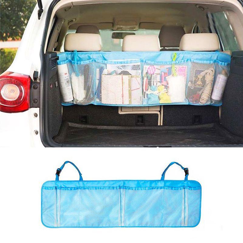 110 * 34 cm Kofferraum Organizer Zurück Falten Zakka Taschen Autositz Zurück Lagerung Netztasche Falten Gepäck Halter Auto Zubehör