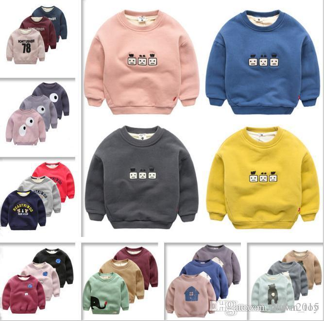 wholesale Children's Clothing New Boys and Girls Cartoon Cotton Long-sleeved T Shirt Round Neck Sets of Sweater Children T Shirt