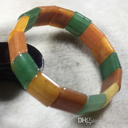 56-62mm NOUVEAU Naturel 2 Couleur dongling Jade Bracelet Bracelet À La Main